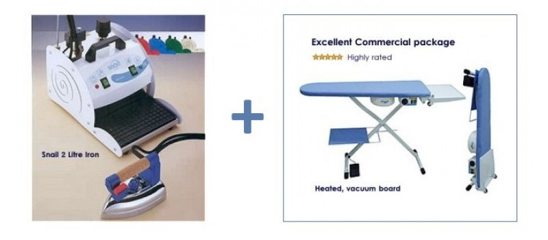 Snail 2 litre Iron & Heated, Vacuum Table by Comel Ironing Equipment - www.ironingsupplies.com
