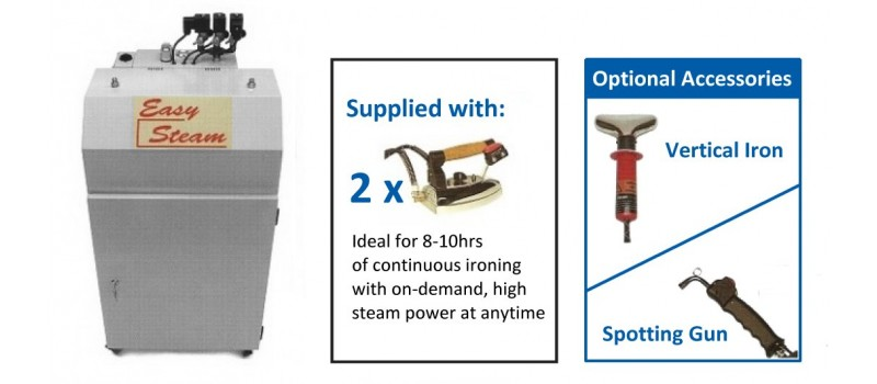 Easy Steam - 3KW Stainless steel boiler by Speedypress - www.ironingsupplies.com