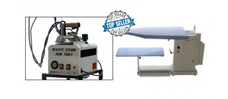 Pressmaster Table with 5 Litre Magpie Boiler by Speedypress Ironing Equipment - www.ironingsupplies.com