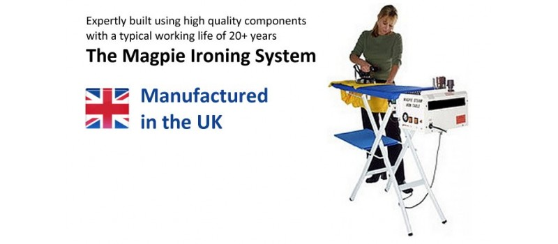 Magpie 5-litre  Boiler +  Iron + Heated, Vacuum Table by Speedypress Ironing Equipment - www.ironingsupplies.com