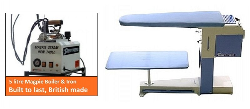 Deluxe Table + Magpie Boiler (Non UK Customer) by Speedypress - www.ironingsupplies.com