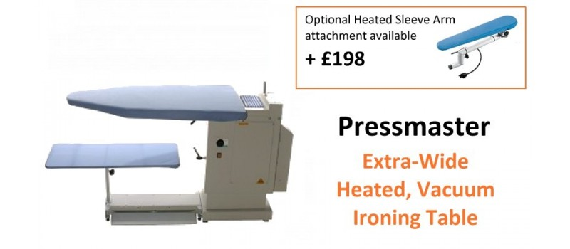 Pressmaster Turbo Vacuum and Heated Extra Wide Ironing Table by Speedypress - www.ironingsupplies.com