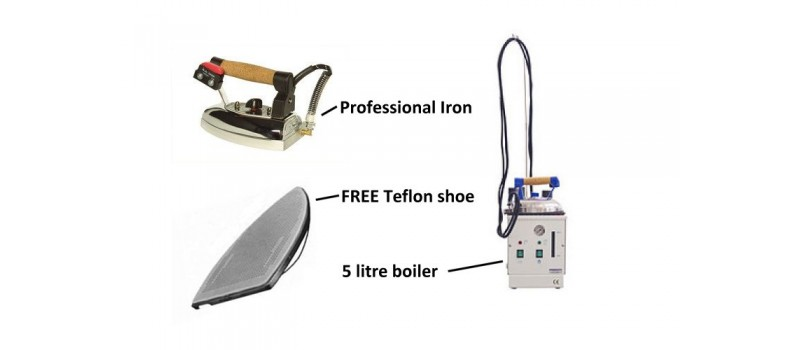 Speedy 5 litre Boiler + Iron by Speedypress Ironing Equipment - www.ironingsupplies.com