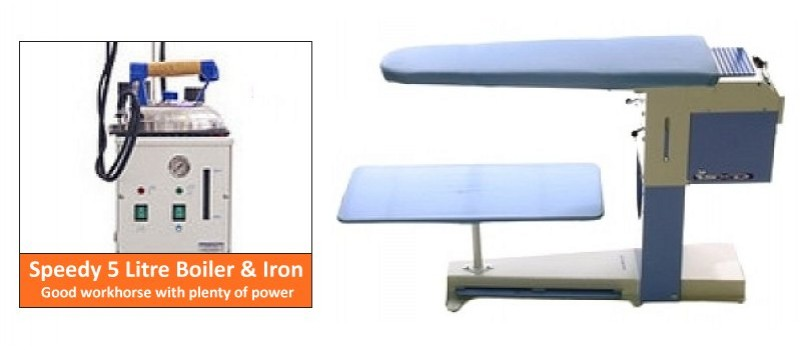 Deluxe Table & 5 Litre Boiler by Speedypress Ironing Equipment - www.ironingsupplies.com